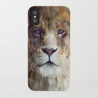 the lion king iPhone & iPod Cases featuring Lion // Majesty by Amy Hamilton