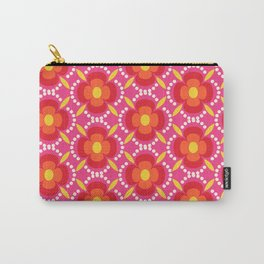 Retro happy bright floral 3 Carry-All Pouch