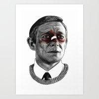 fargo Art Prints featuring Martin Freeman - Fargo by Cécile Pellerin