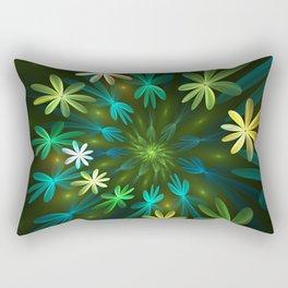 Fantasy Flowers, Fractal Art Rectangular Pillow