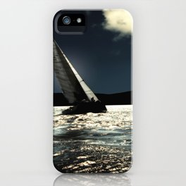 sailing boat , against to wind iPhone Case