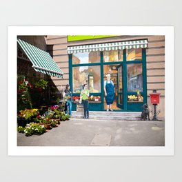Market and Mural Merge Art Print