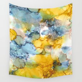 Alcohol Ink 'Fools Gold' Wall Tapestry