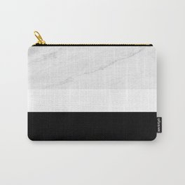 Marble Black White Carry-All Pouch