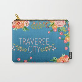 blue tc flower Carry-All Pouch
