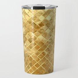 Golden Checkerboard Travel Mug