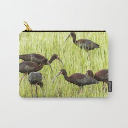 Six White-Faced Ibis in Breeding Plumage Carry-All Pouch