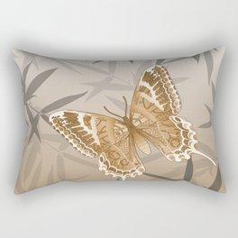 Beautiful Copper Butterfly Design Rectangular Pillow