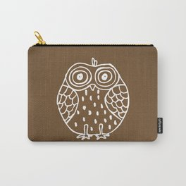 Little Owl (Brown Paper) Carry-All Pouch