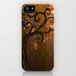 LEAVE - Autumn Amber iPhone Case