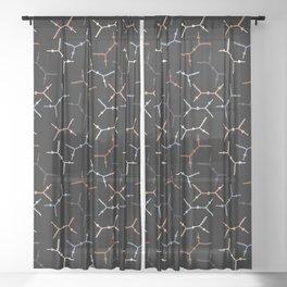 Compton scattering Feynman diagrams on Black Sheer Curtain