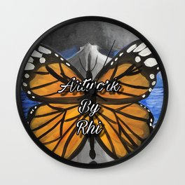 The Afro Fairy of Artwork By Rhi Wall Clock