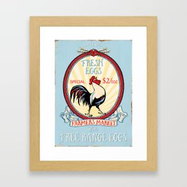Roosters crow Framed Art Print