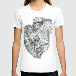 'Luci di Nara' (Sculpture by Igor Mitoraj) Stippling Pen Drawing T-shirt