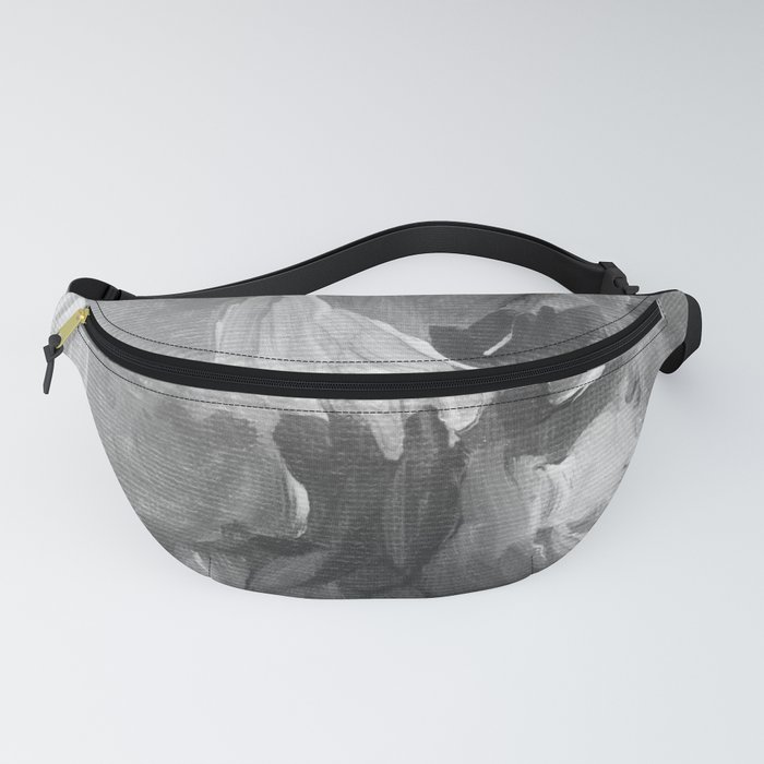 Soft Grey Abstract Fanny Pack