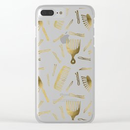 Good Hair Day – Gold Palette Clear iPhone Case