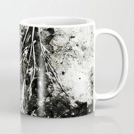 Grunge Monochrome Semi Abstract Nature Theme Coffee Mug