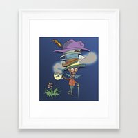 mad hatter Framed Art Prints featuring Mad Hatter by Behr Art