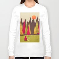 red riding hood Long Sleeve T-shirts featuring Little Red Riding Hood by Annisa Tiara Utami