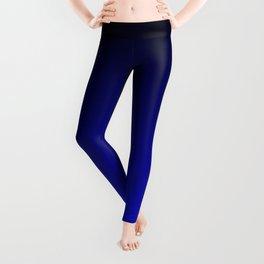 Black and Cobalt Gradient Leggings