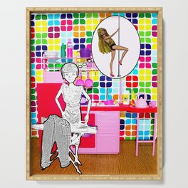 Barbie Dreams Of A More Colourful Life! Housewife Humour! Serving Tray