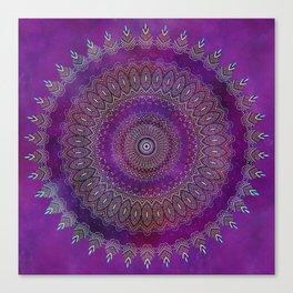 Precious Mandala in rich purple and pink tones Canvas Print
