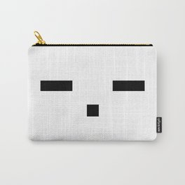 -.- Emoticon Face Carry-All Pouch