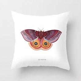 Io Moth Throw Pillow
