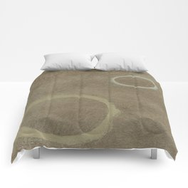 Two Circles - Modern Art - Abstract - California Cool - Popular Painterly - Law Of Attraction Comforters