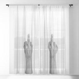hands 4 - no words needed Sheer Curtain