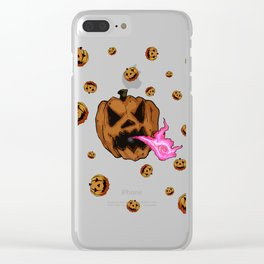 Soul Eater Jack o'lantern . Halloween Pumpkin Clear iPhone Case