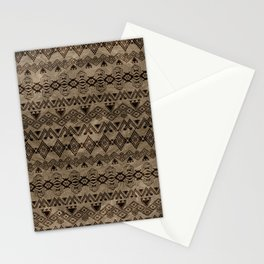 Ethnic Tribal  Pattern on canvas Stationery Cards
