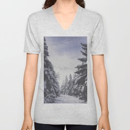 It's gonna clear up - Landscape and Nature Photography Unisex V-Neck