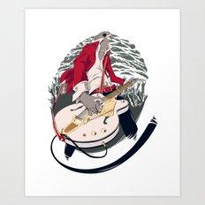 GRETSCH WHITE FALCON Art Print