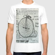 Old Times Mens Fitted Tee MEDIUM White