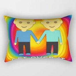 Get Over It -- LGBT Pride Rainbow Edition Rectangular Pillow