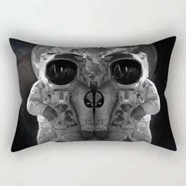 Skull Look Astronaut Suit The Earth Universe Outer Space Travel Rectangular Pillow