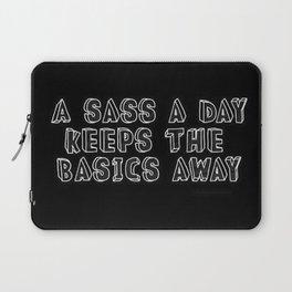 Basic bitch   Sassy   Aesthetic quotes   Aesthetic   Goth girl Laptop Sleeve