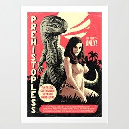 Prehistopless Art Print