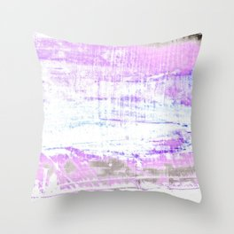Purple and White Hue Abstract Throw Pillow
