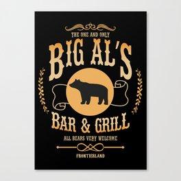 Big Al's Bar and Grill  Canvas Print