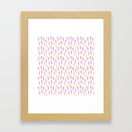 Bright watercolor pattern Framed Art Print