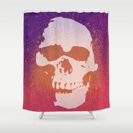 Skully Splatter Shower Curtain