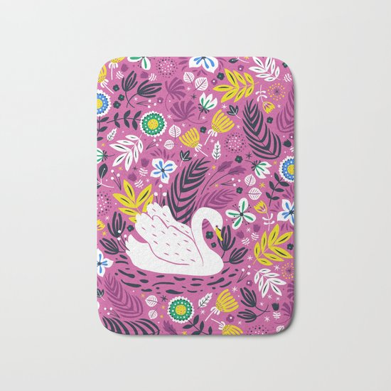 Delightful Swan Bath Mat