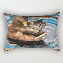 Space Duck Rectangular Pillow