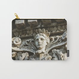 Chicago Architectural Detail Ornamental Column Face Carry-All Pouch