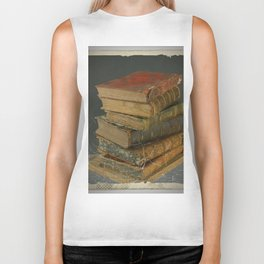 GRUBY SHABBY CHIC ANTIQUE LIBRARY BOOKS Biker Tank