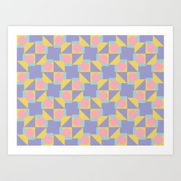 Seamless colorful pattern 1 / abstract / geometric Art Print