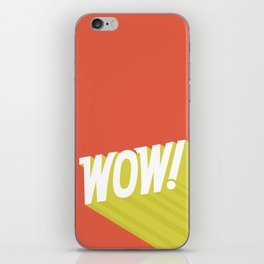 Wow quote illustration iPhone Skin