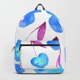 Watercolor cherries - blue and purple Backpack